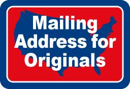 Mailing Address for Originals
