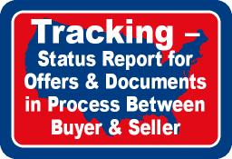 Tracking - Status Report for Officers & Documents in Process Between Buyer & Seller